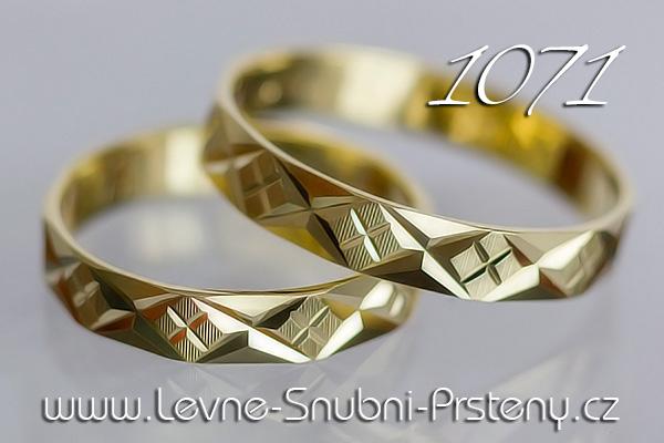 Snubní prsteny LSP 1071 žluté zlato