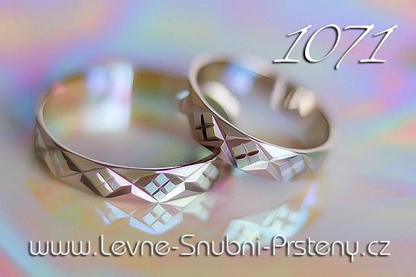 Snubní prsteny LSP 1071b bílé zlato