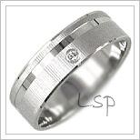 Snubní prsteny LSP 1073b bílé zlato