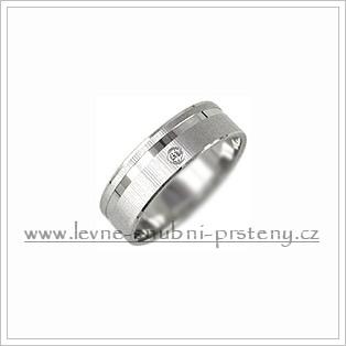 Snubní prsteny LSP 1073bz bílé zlato