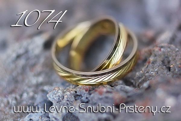 Snubní prsteny LSP 1074 kombinované zlato