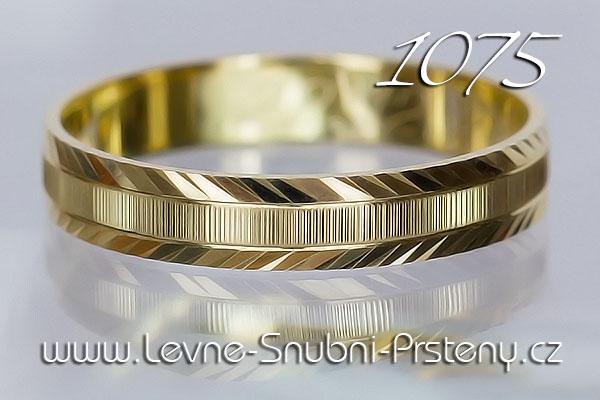 Snubní prsteny LSP 1075 žluté zlato