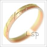 Snubní prsteny LSP 1076 kombinované zlato