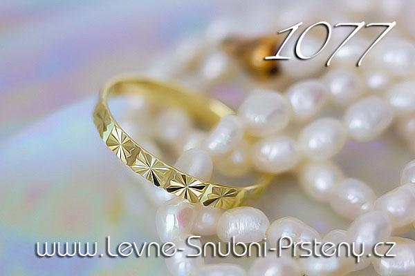 Snubní prsteny LSP 1077 žluté zlato