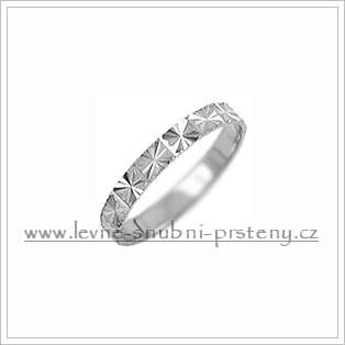 Snubní prsteny LSP 1077b bílé zlato