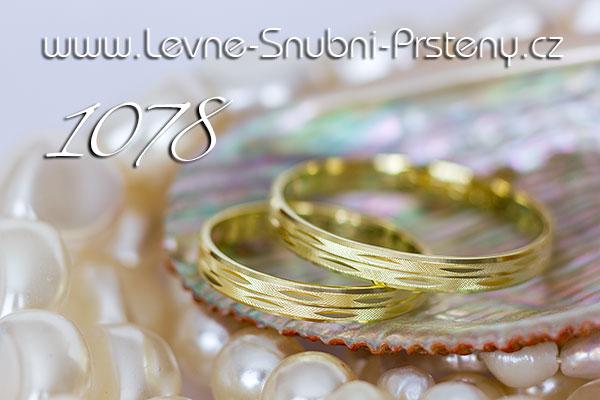Snubní prsteny LSP 1078 žluté zlato