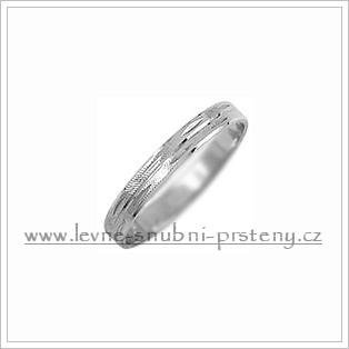 Snubní prsteny LSP 1078b bílé zlato