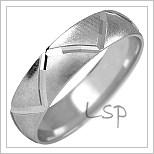 Snubní prsteny LSP 1079b bílé zlato