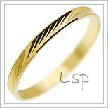 Snubní prsteny LSP 1080 žluté zlato