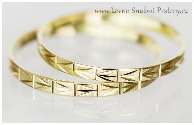Snubní prsteny LSP 1081 žluté zlato