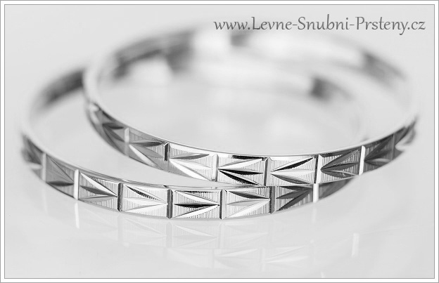 Snubní prsteny LSP 1081b bílé zlato