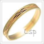 Snubní prsteny LSP 1082 kombinované zlato