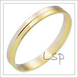 Snubní prsteny LSP 1083 kombinované zlato