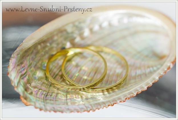 Snubní prsteny LSP 1084 žluté zlato