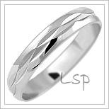 Snubní prsteny LSP 1085b bílé zlato