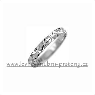 Snubní prsteny LSP 1086b bílé zlato