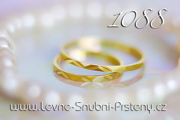 Snubní prsteny LSP 1088 žluté zlato