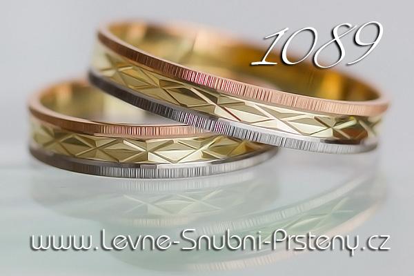 Snubní prsteny LSP 1089 kombinované zlato