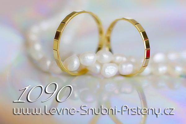Snubní prsteny LSP 1090 žluté zlato