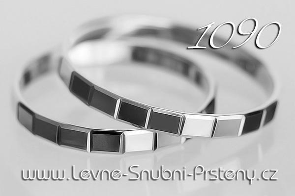 Snubní prsteny LSP 1090b bílé zlato