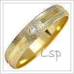 Snubní prsteny LSP 1091 žluté zlato s diamanty