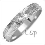 Snubní prsteny LSP 1091b bílé zlato