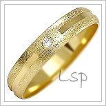 Snubní prsteny LSP 1091z žluté zlato se zirkony