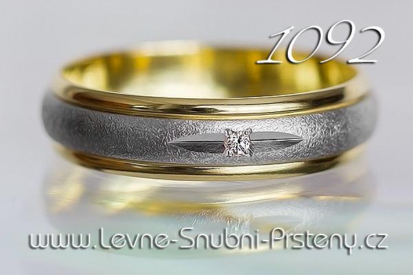 Snubní prsteny LSP 1092 kombinované zlato