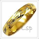 Snubní prsteny LSP 1093 žluté zlato