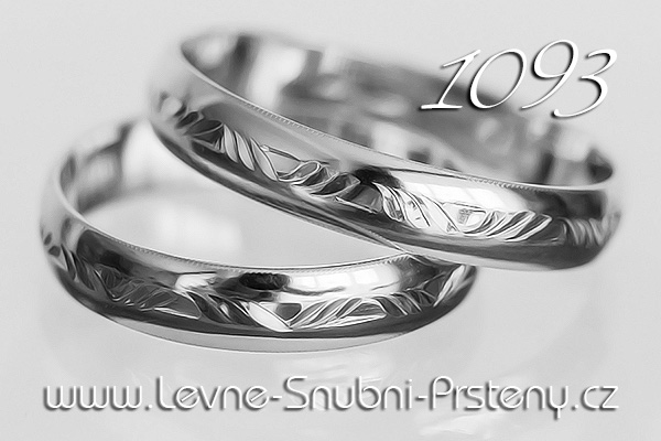 Snubní prsteny LSP 1093b bílé zlato