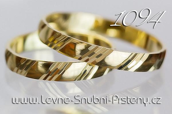 Snubní prsteny LSP 1094 žluté zlato