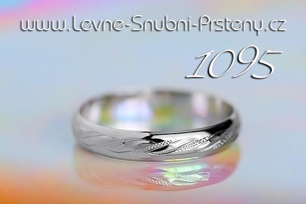 Snubní prsteny LSP 1095b bílé zlato