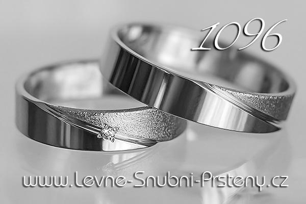 Snubní prsteny LSP 1096 bílé zlato