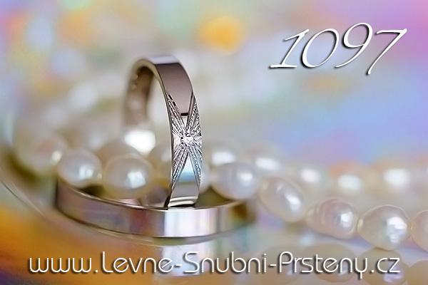 Snubní prsteny LSP 1097 bílé zlato