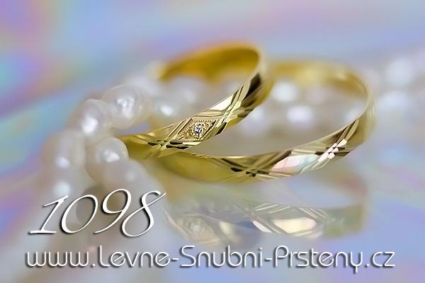 Snubní prsteny LSP 1098 žluté zlato
