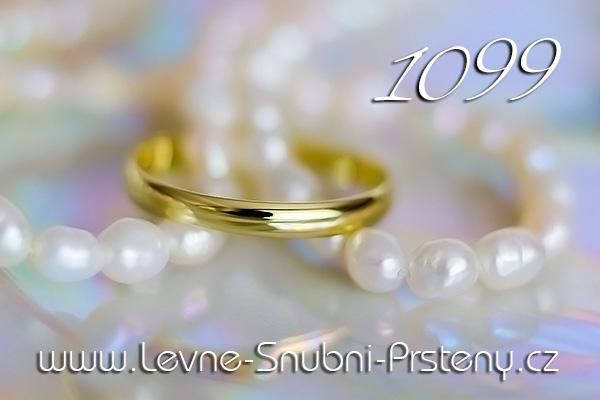 Snubní prsteny LSP 1099 žluté zlato