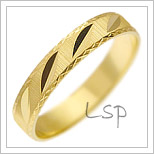 Snubní prsteny LSP 1100 žluté zlato