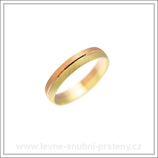 Snubní prsteny LSP 1101 kombinované zlato