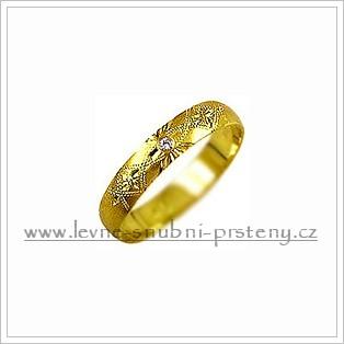 Snubní prsteny LSP 1103 žluté zlato s diamanty