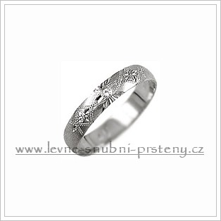 Snubní prsteny LSP 1103b bílé zlato