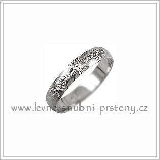 Snubní prsteny LSP 1103bz bílé zlato
