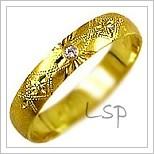 Snubní prsteny LSP 1103z žluté zlato se zirkony