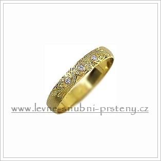 Snubní prsteny LSP 1108 žluté zlato s diamanty