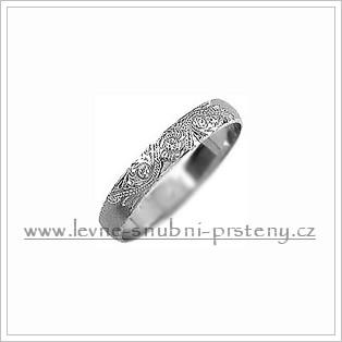 Snubní prsteny LSP 1108b bílé zlato