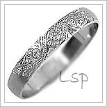 Snubní prsteny LSP 1108bz bílé zlato
