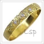 Snubní prsteny LSP 1108z žluté zlato se zirkony