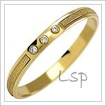 Snubní prsteny LSP 1109 žluté zlato s diamanty