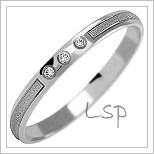 Snubní prsteny LSP 1109b bílé zlato