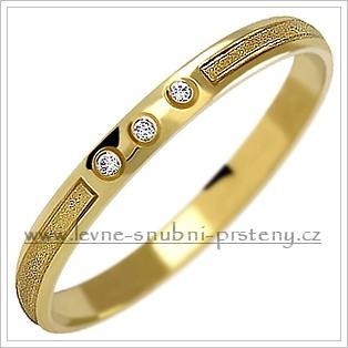 Snubní prsteny LSP 1109z žluté zlato se zirkony