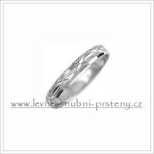 Snubní prsteny LSP 1110b bílé zlato